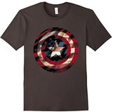 Marvel Captain America Avengers Shield Flag Graphic T-Shirt