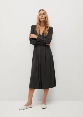 MANGO Decorative pleat dress