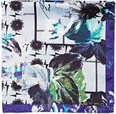Etro Men's Floral & Geometric Pocket Square-PURPLE
