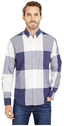 J.Crew Organic Stretch Secret Wash Shirt in Gingham (Exploded Gingham Blue/White) Men's Clothing