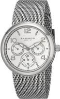 Akribos XXIV Women's AK559SS Quartz Multi-Function Stainless Steel Mesh Bracelet Watch