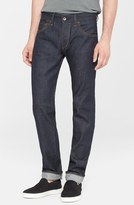 Rag & Bone Standard Issue 'Fit 2' Slim Fit Raw Selvedge Jeans (Indigo)
