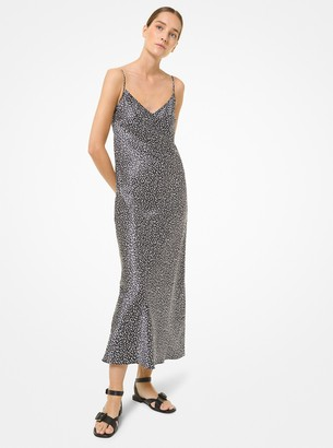 Michael Kors Collection Leopard Silk Charmeuse Slip Dress