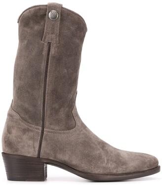 Alberto Fasciani Suede Calf-Length Boots