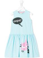 Fendi sleeveless printed dress - kids - Cotton/Spandex/Elastane - 2 yrs