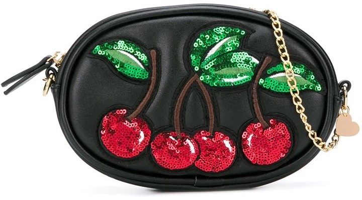 MonnaLisa Sequin Cherry Belt Bag