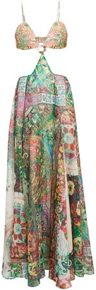 Alexis Marteena Cut-Out Printed Maxi Dress