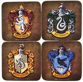 Official Harry Potter Hogwarts House Crests Coaster Set of 4 - Boxed Gift