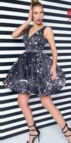 Mac Duggal Star Print Bubble Dress