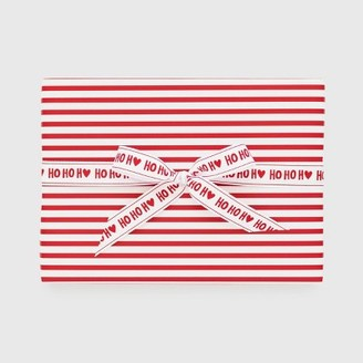 Red with White Stripe Gift Wrap, Single Roll - Sugar PaperTM