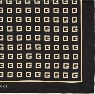 Gucci Square G-print silk scarf