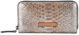 Brunello Cucinelli metallic snakeskin effect wallet