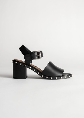 And other stories Studded Leather Heeled Sandals