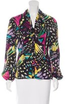 Catherine Malandrino Silk Printed Top