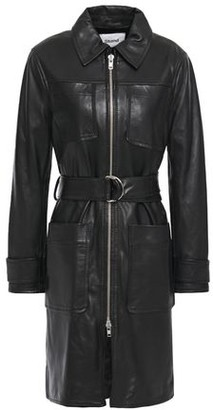 Stand Studio Keren Belted Leather Trench Coat