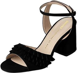 Bronx Women's BX 1254 BjaggerX Ankle Strap Sandals, (Black), 37 EU