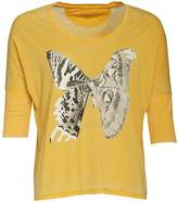 Converse Womens Envy 1/2 Sleeve Graphic T-Shirt Citrus