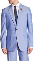 Tommy Hilfiger Polk Blue Woven Two Button Notch Lapel Sport Coat