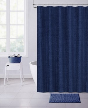 "Dainty Home Paris Chenille 70"" x 72"" Shower Curtain Bedding"