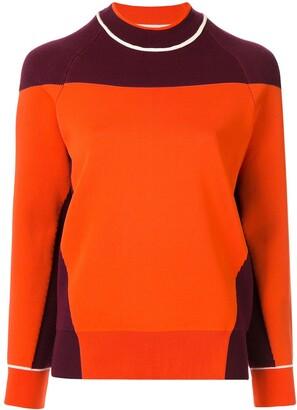 Victoria Beckham colour block jumper
