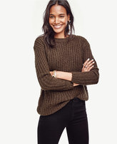 Ann Taylor Ribbed Boucle Sweater