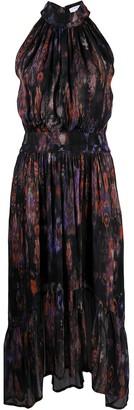 IRO Abstract Print Halterneck Dress