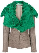 Preen by Thornton Bregazzi fur-trimmed tailored blazer