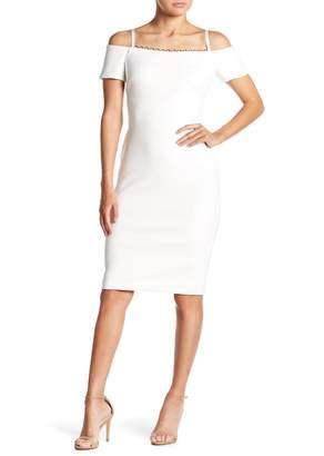 Calvin Klein Ring Chain Cold-Shoulder Dress