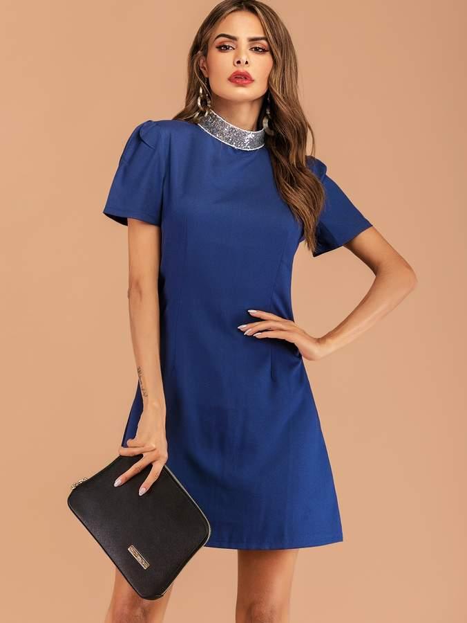 8b189b9326 Contrast Collar Dress - ShopStyle