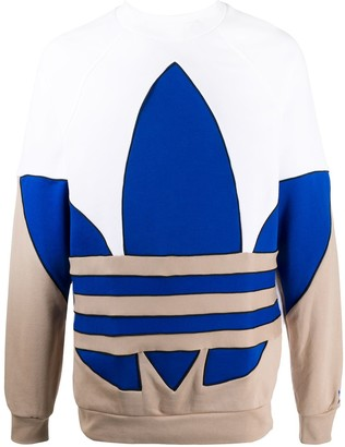 adidas Colour-Block Logo Sweatshirt