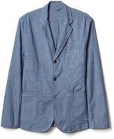 Chambray denim blazer