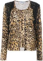 Blumarine leopard print cardigan - women - Polyamide/Spandex/Elastane/Viscose - 42
