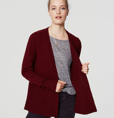 LOFT Petite Wide Ribbed Open Cardigan