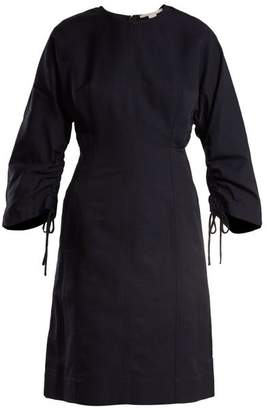 Stella McCartney Indigo Round Neck Ruched-sleeve Cocoon Dress - Womens - Indigo