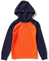 Ralph Lauren Little Boys 5-7 Color Block Waffle-Knit Hoodie