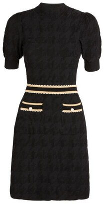 Sandro Houndstooth Jacquard Dress