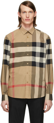 Burberry Beige Check Windsor Shirt