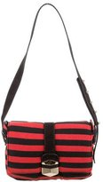 Sonia Rykiel Striped Knit Messenger Bag