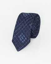Le Château Italian-Made Check Print Silk Tie