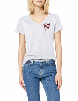 Tommy Jeans Female TJW Essential V-Neck TEE Shirt