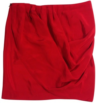 Calvin Klein Red Silk Skirt for Women
