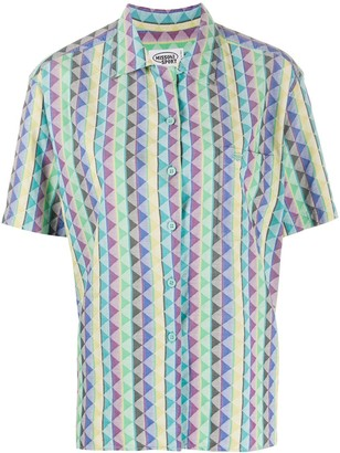 Missoni Pre Owned 1980s Geometric Print Short-Sleeved Shirt