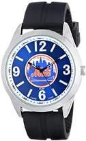 Game Time Men's MLB-VAR-NYM Varsity Analog Display Japanese Quartz Black Watch