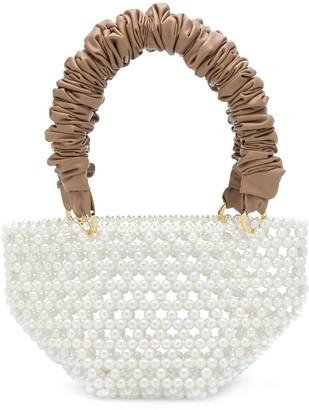 Tako pearl-embellished tote bag