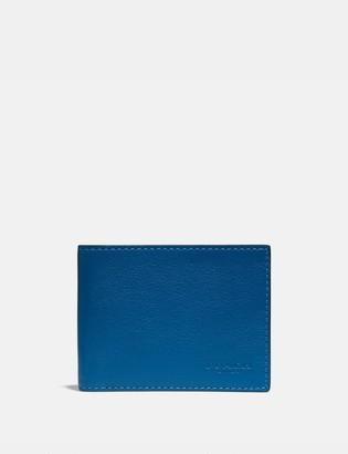 Coach Slim Billfold Wallet With Signature Canvas Interior