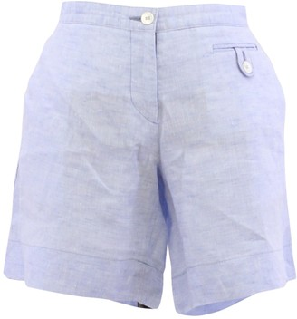Malo Blue Cloth Shorts for Women