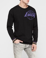 Express Los Angeles Lakers Nba Long Sleeve Heavyweight T-Shirt