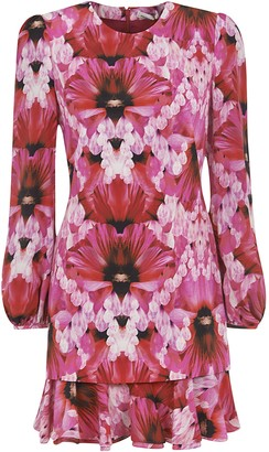 Alexander McQueen Floral Print Short Dress