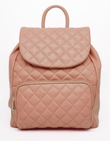 Urban Code Urbancode Leather Quilted Backpack
