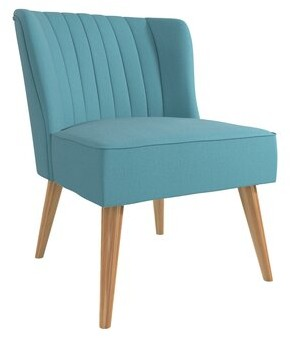 Brittany Side Chair Novogratz Fabric: Dark Gray Linen